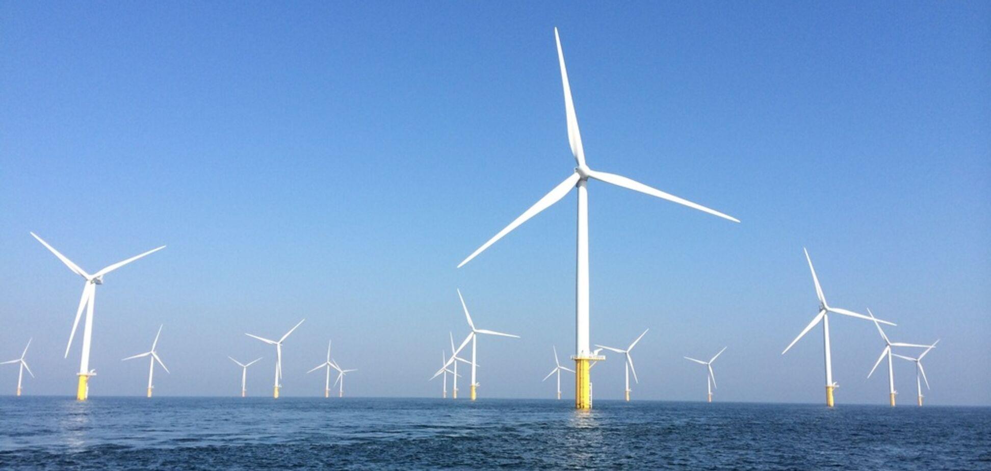 В Европе построят гигантский парк ветрогенераторов