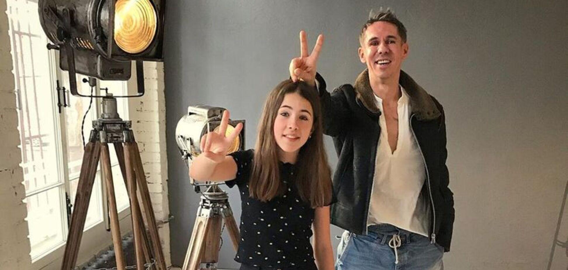 Алексей Панин с дочкой Анной