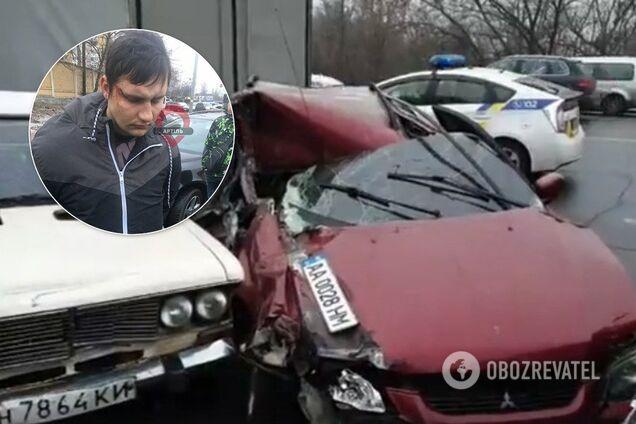 """П'яний """"активіст"""" розбив шість авто у Києві"""
