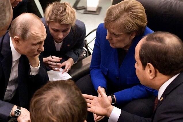 Путин на конференции в Берлине