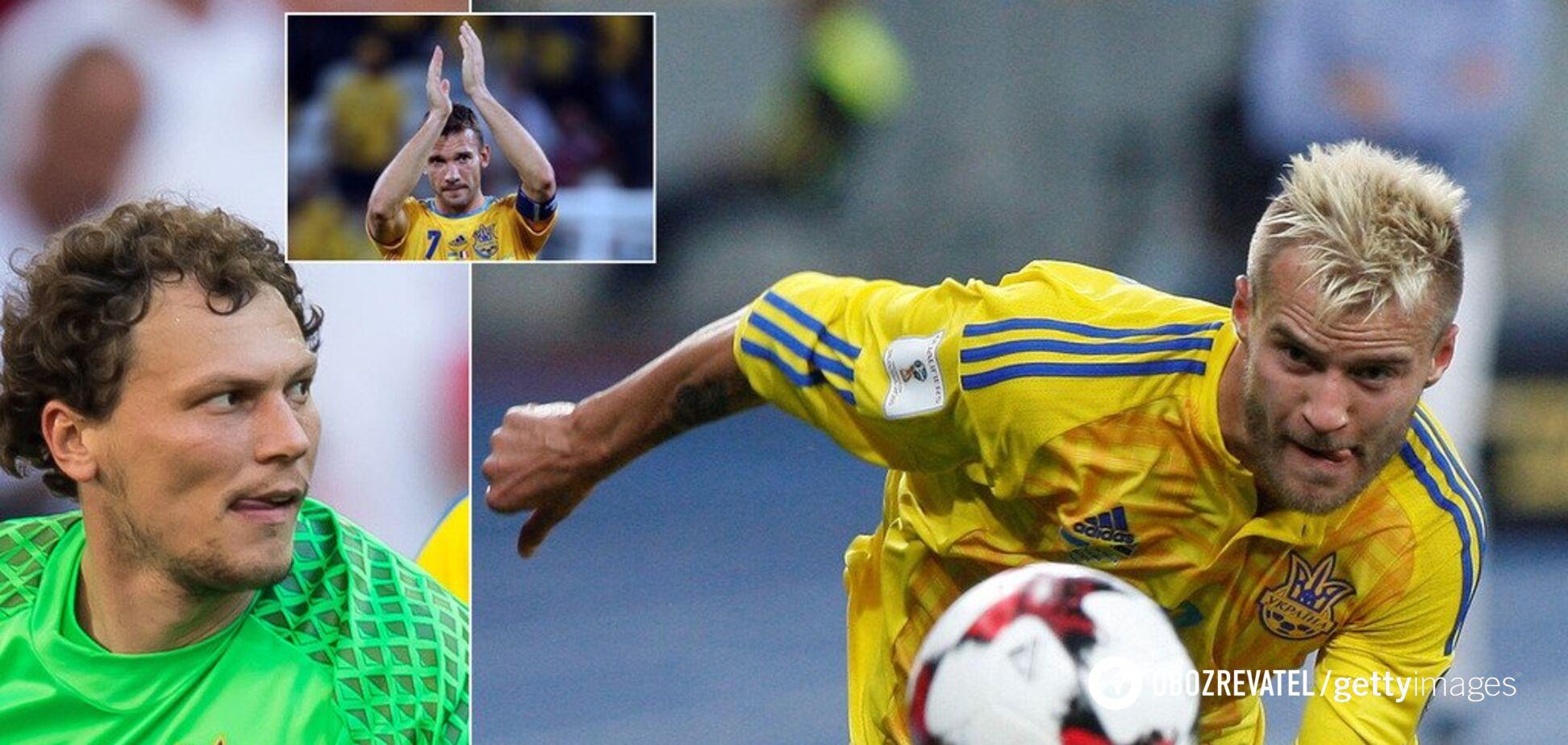 Уже без Шевченко, но еще без Зинченко: символическая сборная Украины 2010-х