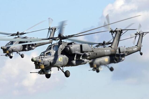 Россия подняла в небо над Крымом военные вертолеты