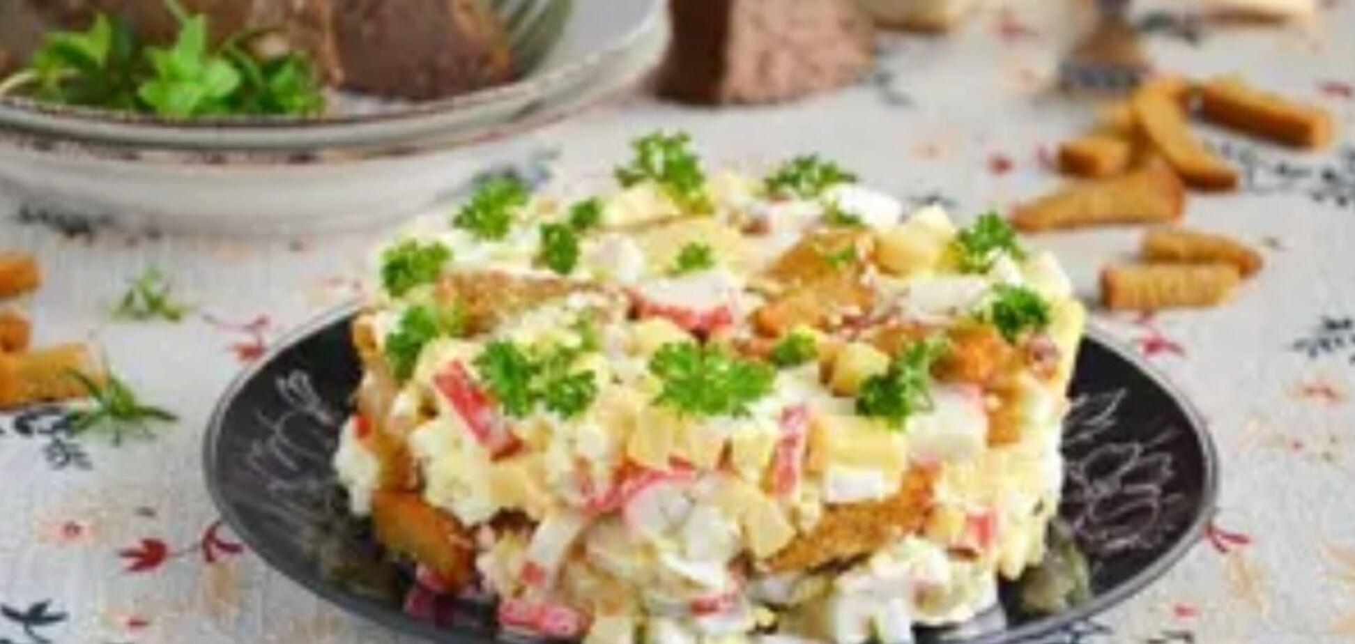 Рецепт оригинального и изысканного блюда с крабовыми палочками