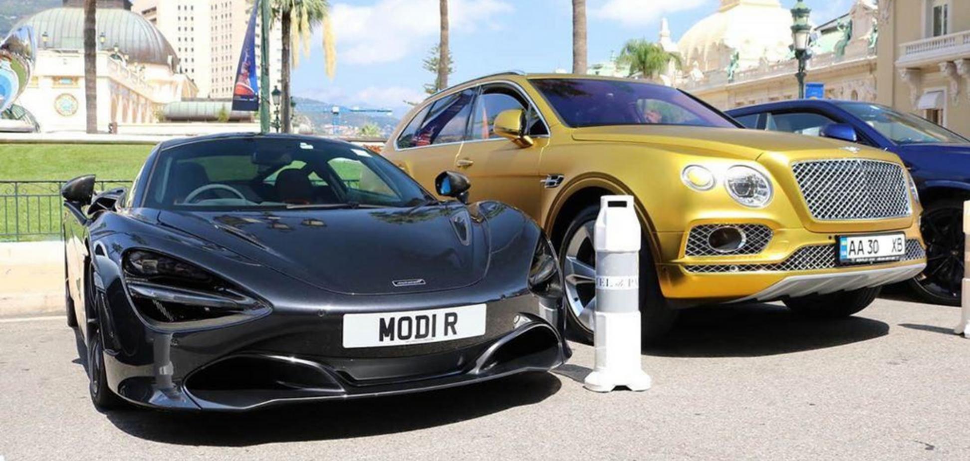 В Монако засветился золотой Bentley на украинских номерах