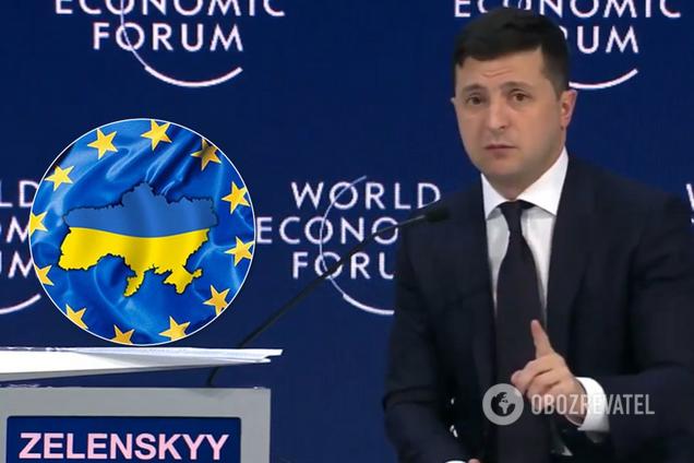 Зеленский призвал принять Украину в ЕС