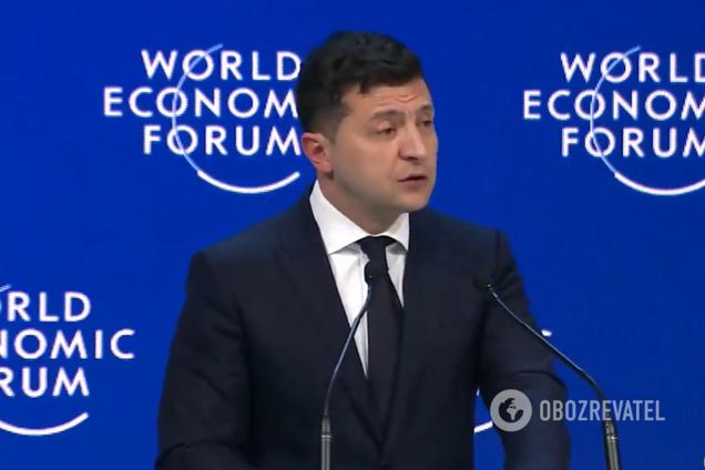 Зеленський у Давосі висловився про війну в Україні