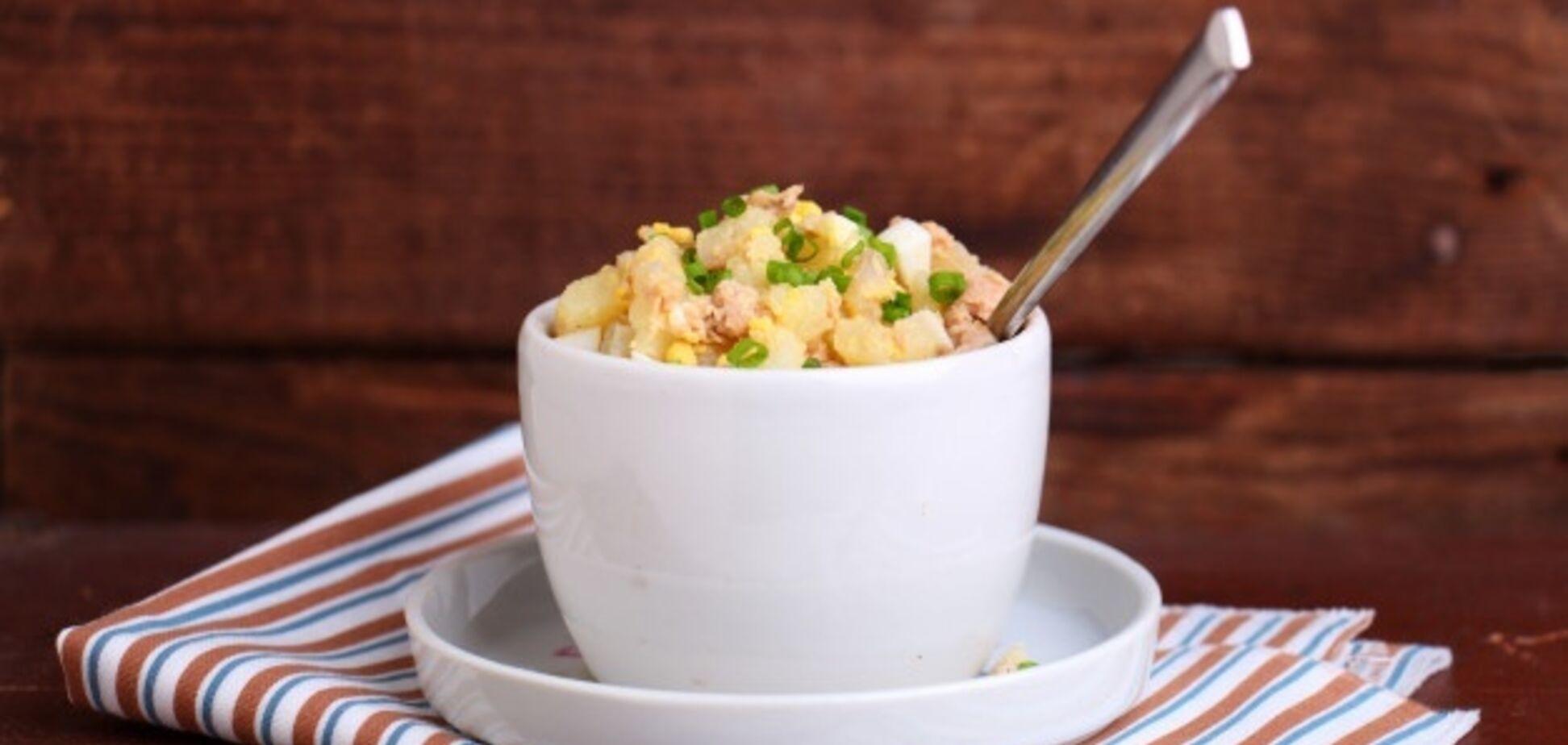 Найсмачніший салат з печінкою тріски за 15 хвилин