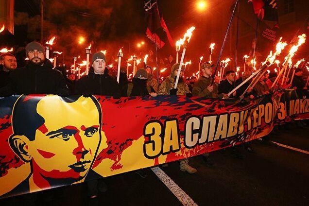 Марш памяти Степана Бандеры в Киеве