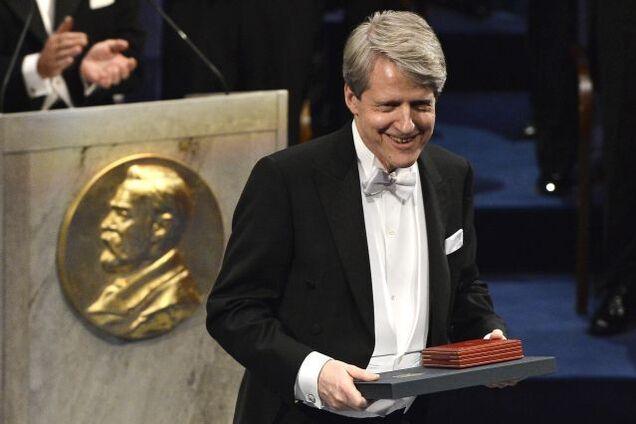 Роберт Шиллер на вручении Нобелевской премии