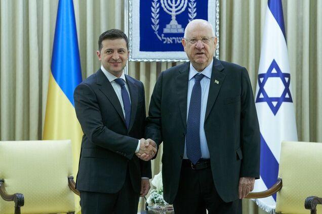 Во время рабочего визита Владимир Зеленский провел встречу с президентом Израиля Реувеном Ривлином