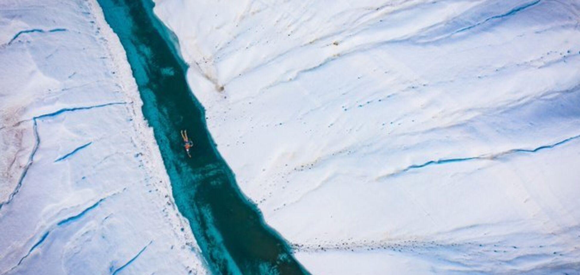 Пловец решил необычным способом спасти ледники Антарктиды от таяния