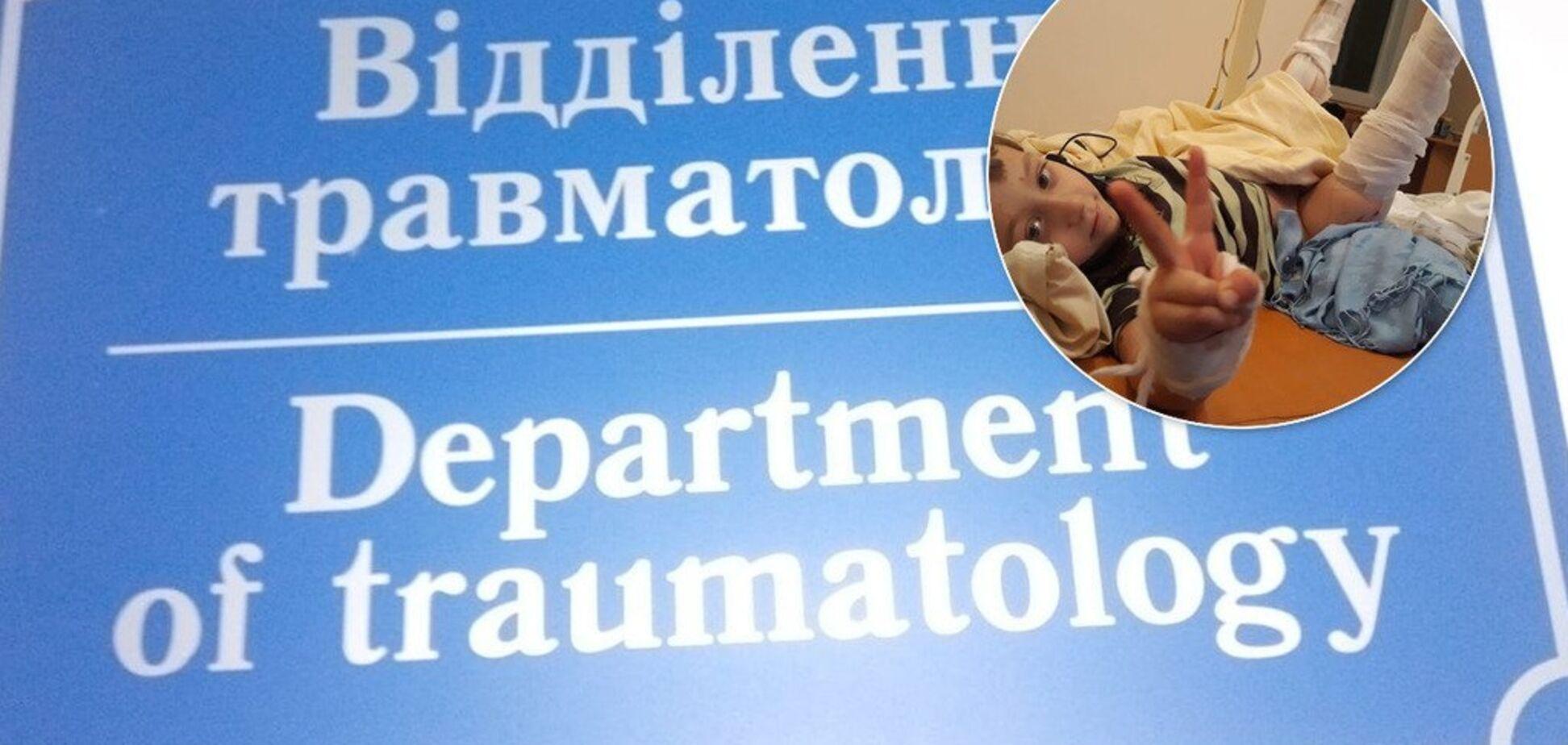 'Температура, все время кричит': душераздирающая история малыша, которого прибило дверью в больнице Киева