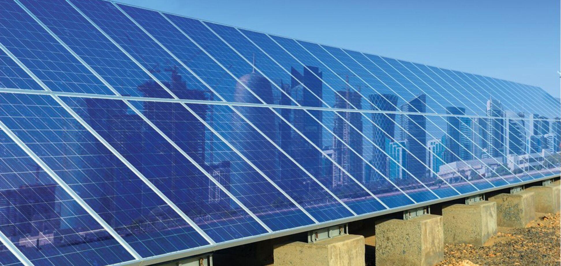 Енергія сонця: в Катарі встановили світовий рекорд ціни на світло