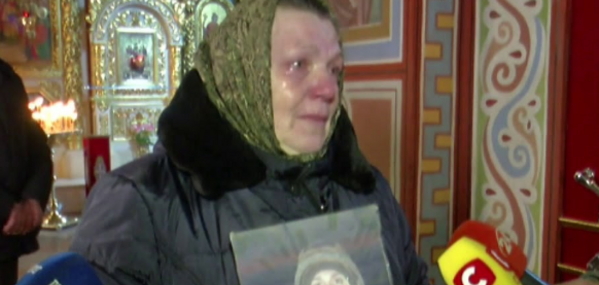 На Киевщине священник осквернил память'киборга' Дениса Поповича