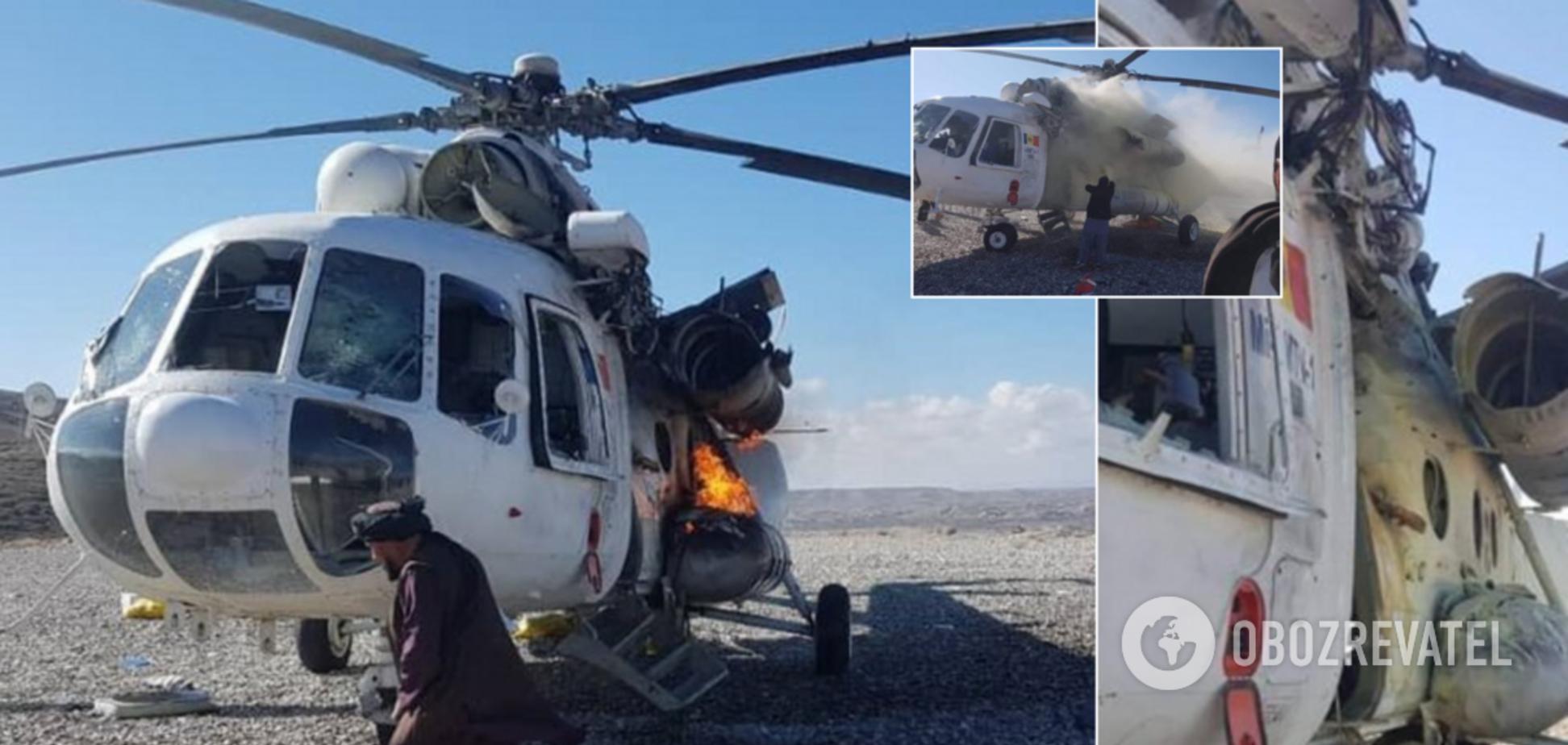 В Афганистане ударили ракетой по вертолету с украинцами: фото и видео