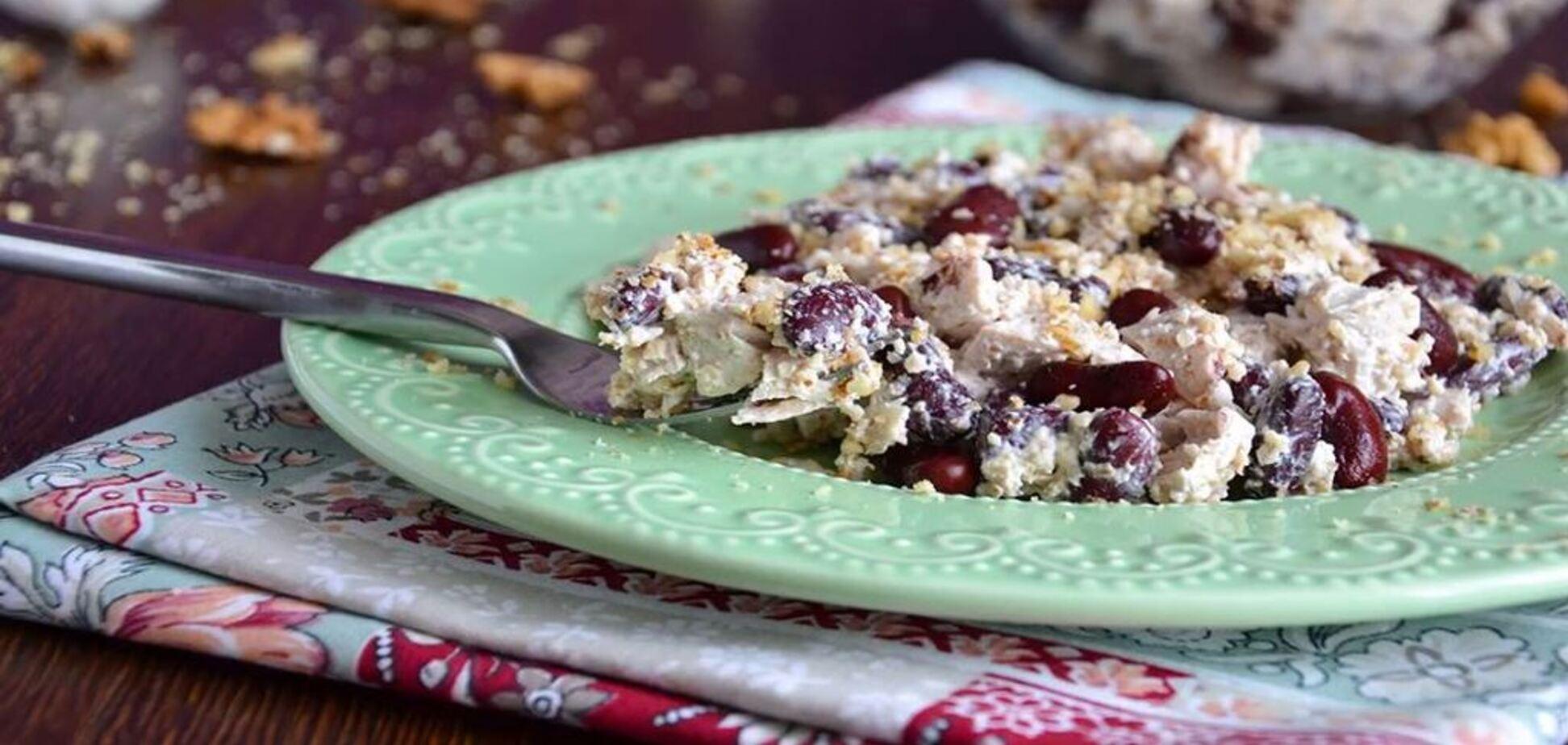 Рецепт казково смачного м'ясного салату без майонезу