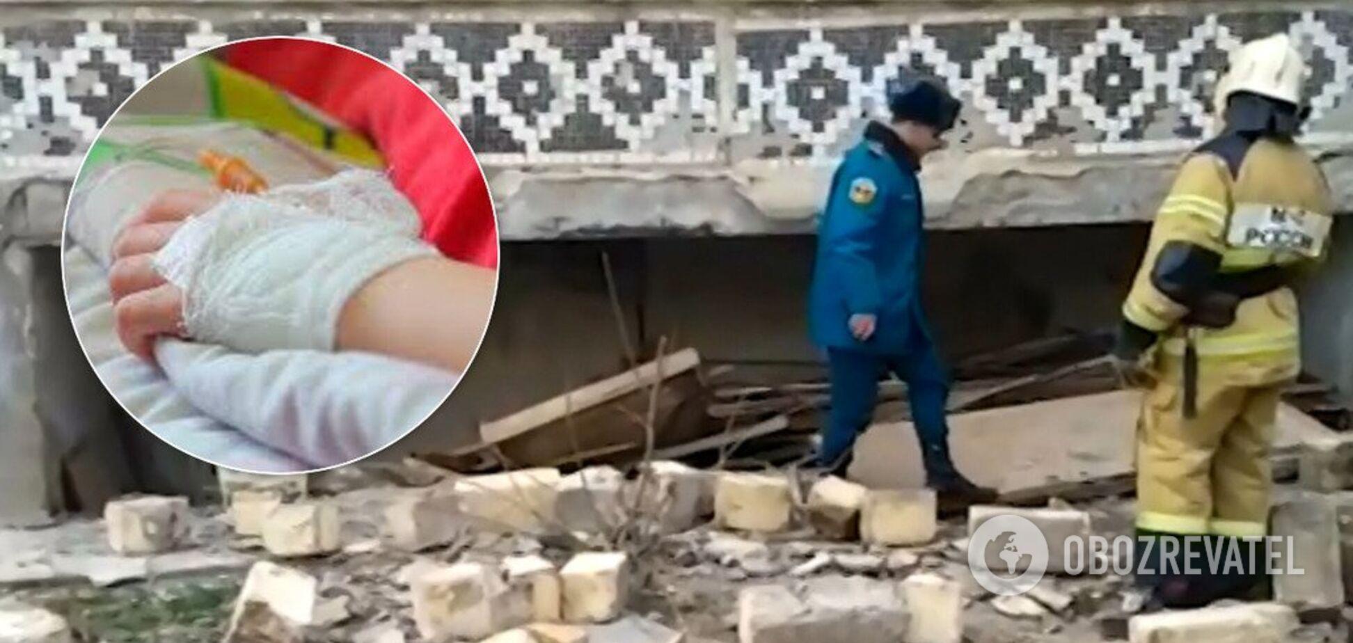 Вилетіла частина балкона: у Росії в багатоповерхівці вибухнув газ. Відео
