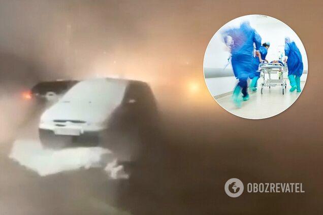 В России девушки обварили ноги в луже с кипятком