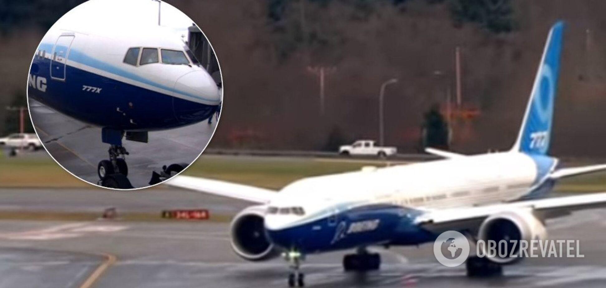 В США провели первый испытательный полет новейшего Boeing 777X: видео