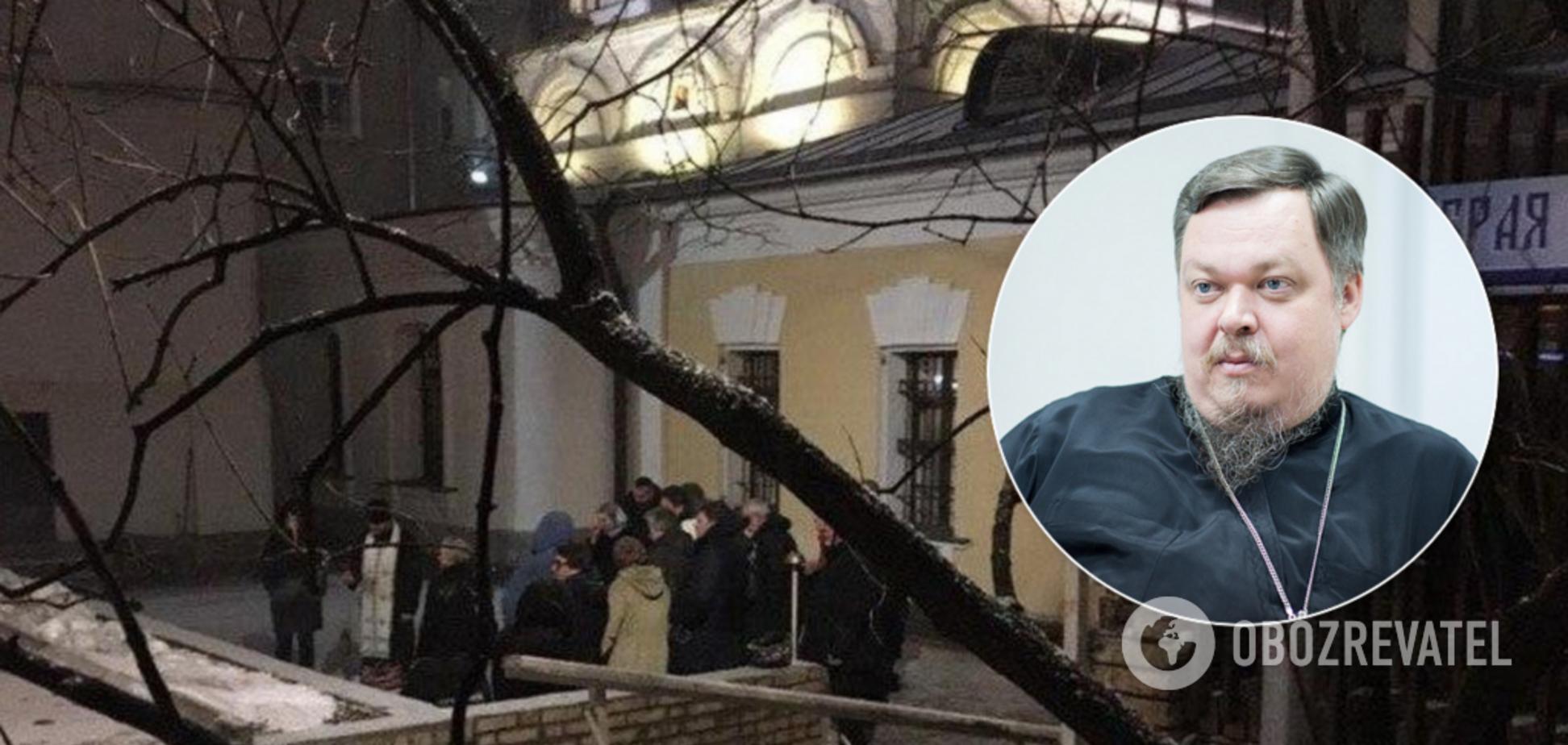 Всеволод Чаплін помер прямо перед храмом РПЦ: опубліковано відео 18+