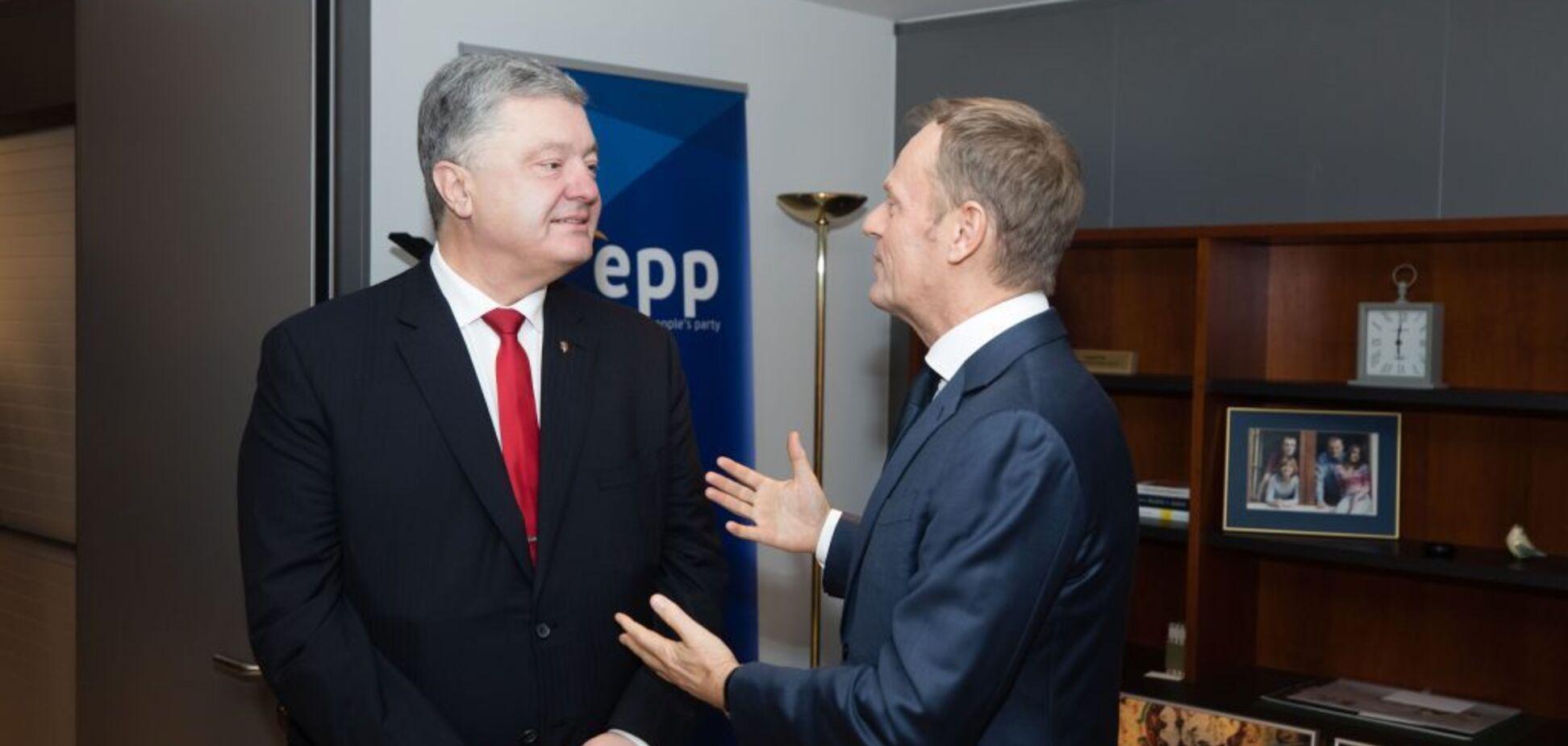Ні реабілітації Путіна! Порошенко зустрівся з Туском: про що говорили