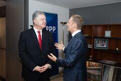 Нет реабилитации Путина! Порошенко встретился с Туском: о чем говорили