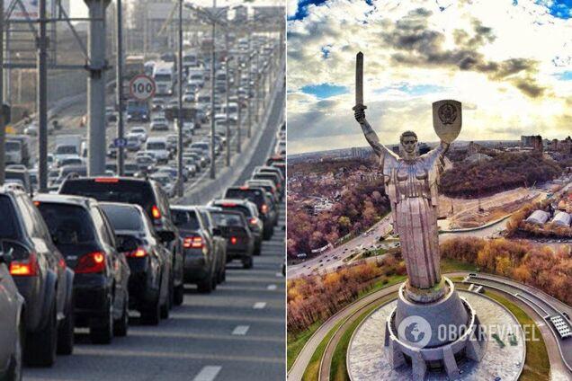 Київ застряг у масштабних заторах