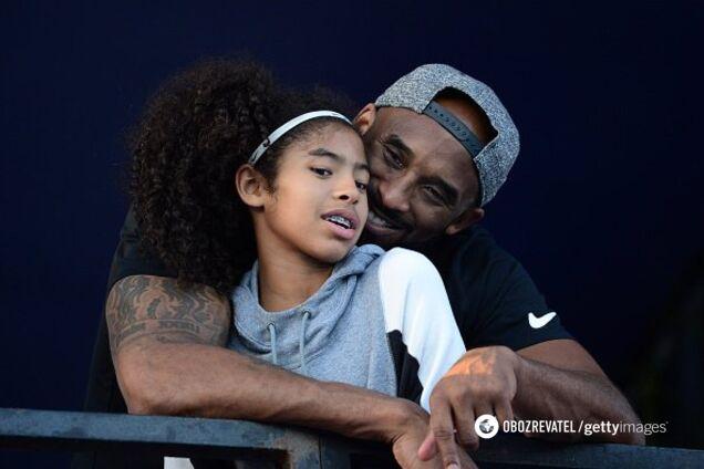 Коби Брайант с дочерью Джианной