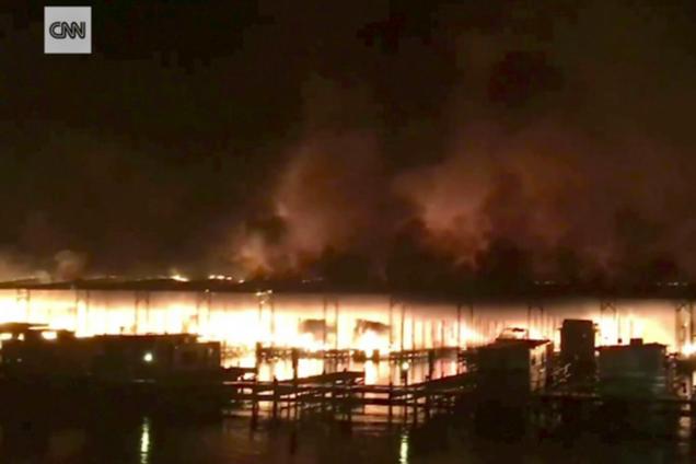 Пожежа на озері Гантерсвілль
