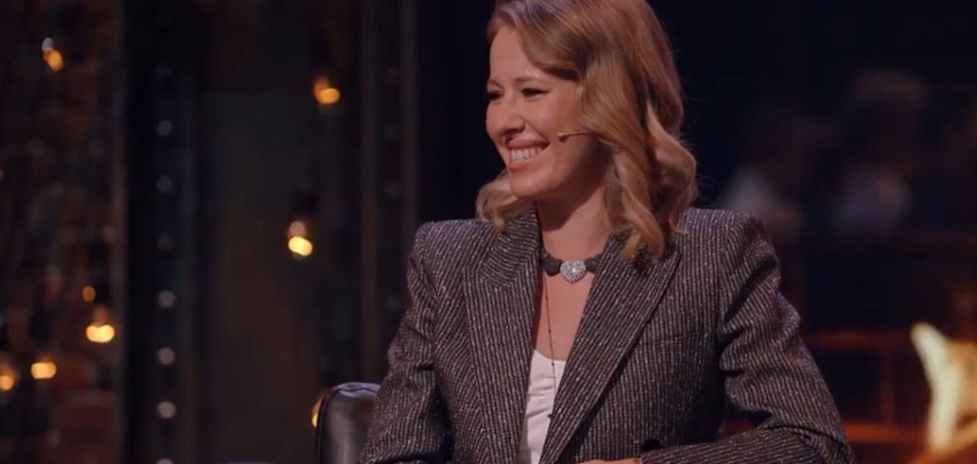 'Дам Шерон Стоун': Собчак раздвинула ноги на росТВ
