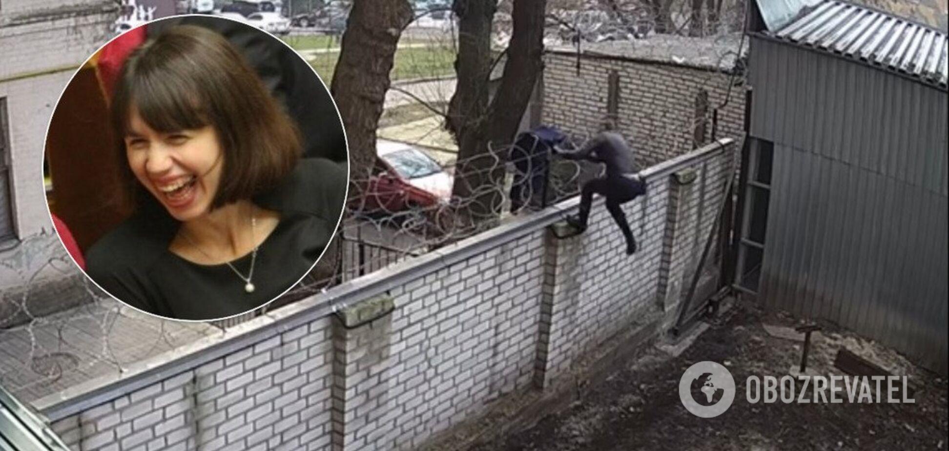 Экс-нардеп Черновол перелезла через забор ГБР с 'колючкой': эпичное видео