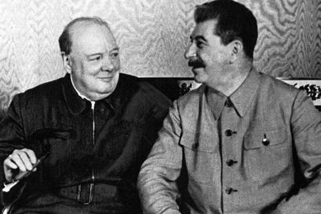 Вінстон Черчілль і Йосип Сталін