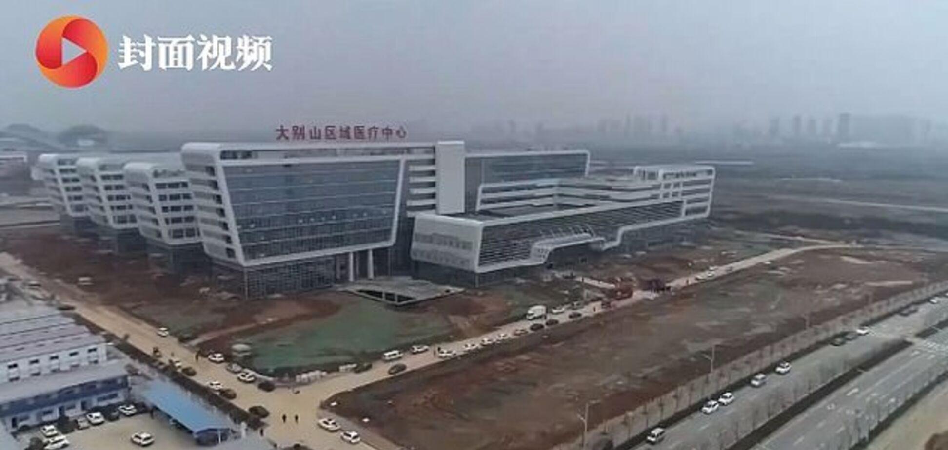 У Китаї за 2 дні облаштували лікарню для заражених коронавірусом: фото і відео