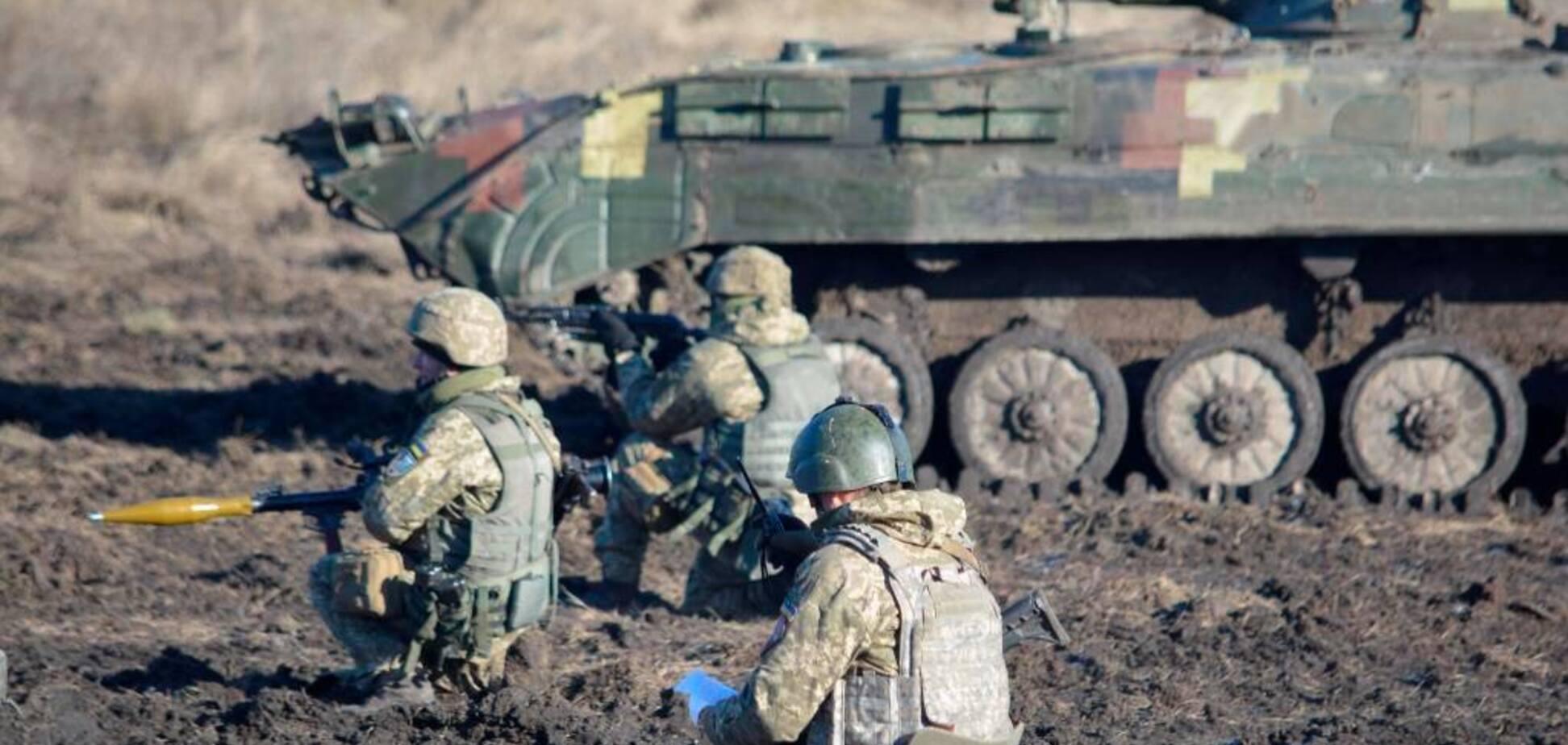 Учения десантников в зоне ООС на Луганщине
