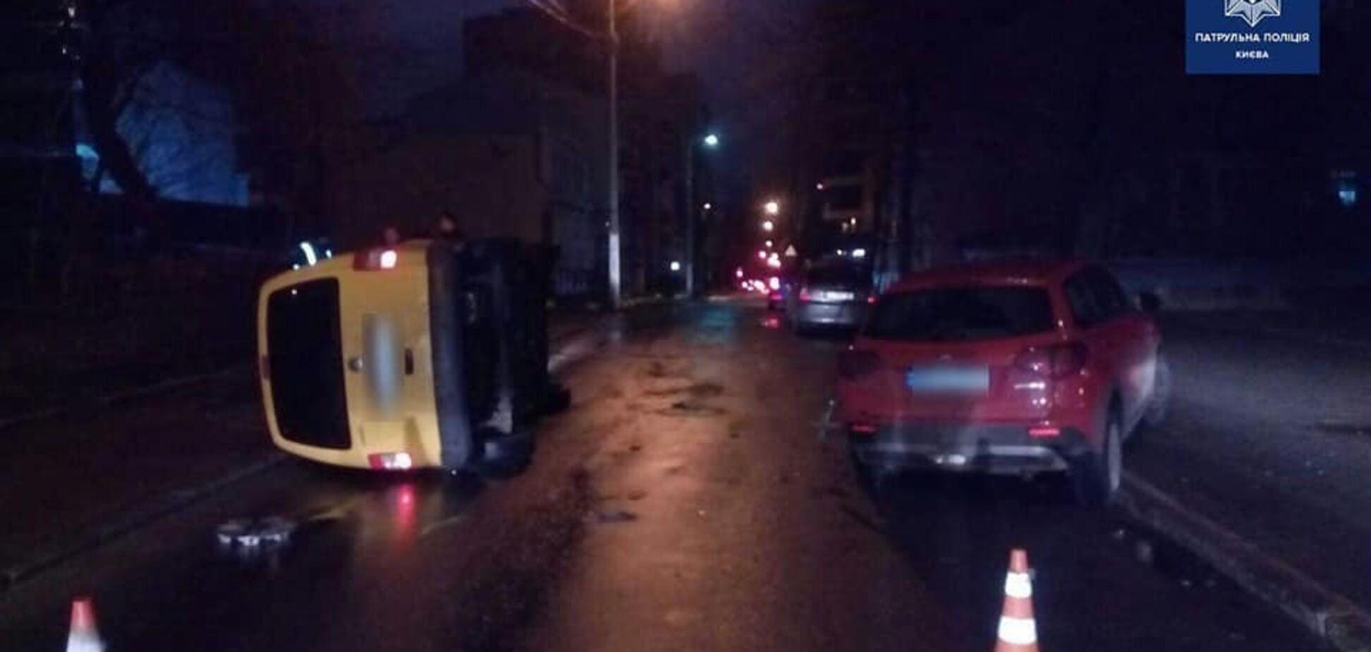 У Києві п'яний водій влаштував ДТП і ліг на землю відпочити