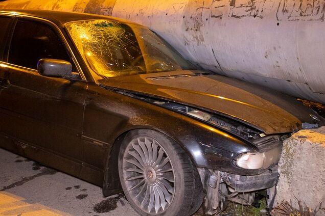 Аварія на з'їзді з Амурського мосту