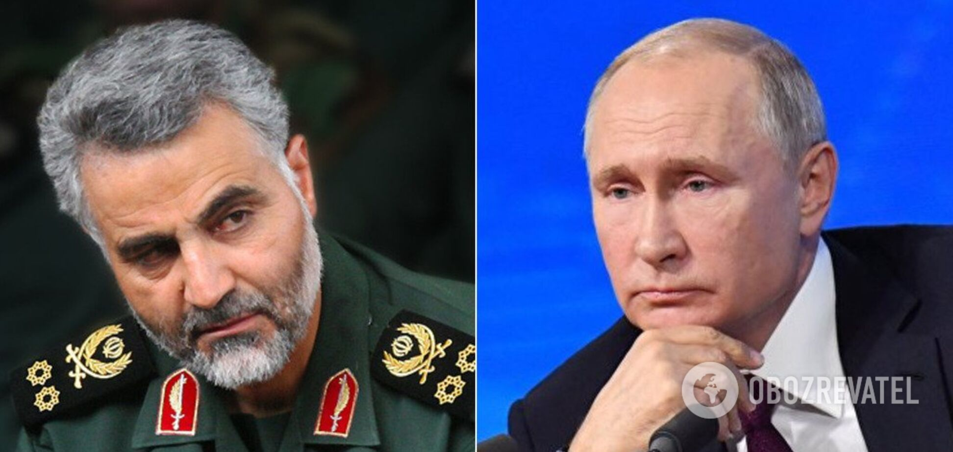 Касем Сулеймані та Володимир Путін