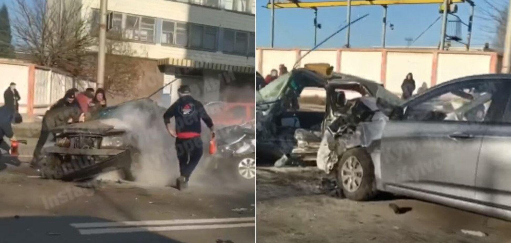 В Киеве в жутком ДТП погиб водитель