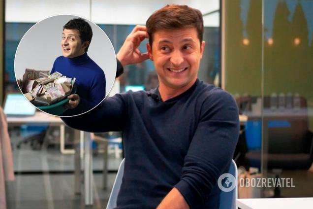 """Зеленский получил 5 млн грн от """"Квартала"""""""