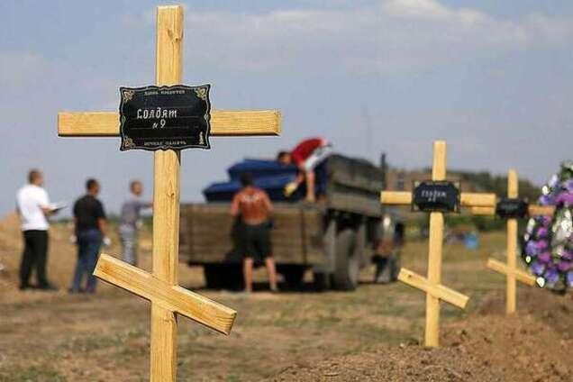 Могила погибшего на Донбассе
