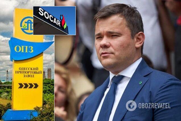 Также руководитель Офиса президента Украины проталкивает азербайджанскую нефтегазовую компанию на госзаказы для Одесского припортового завода