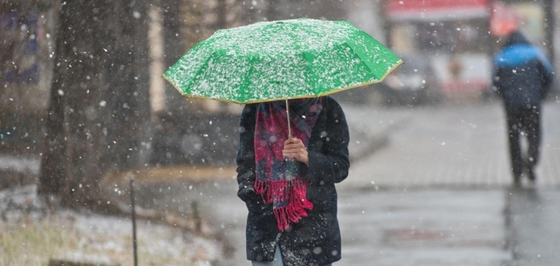 Залепит мокрым снегом: синоптики дали прогноз по Украине