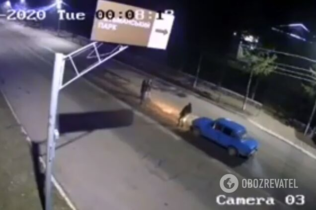 Историю сняла одна из уличных веб-камер