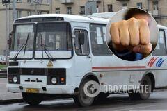 Розбив ніс: у Черкасах почубились пішохід і водій маршрутки