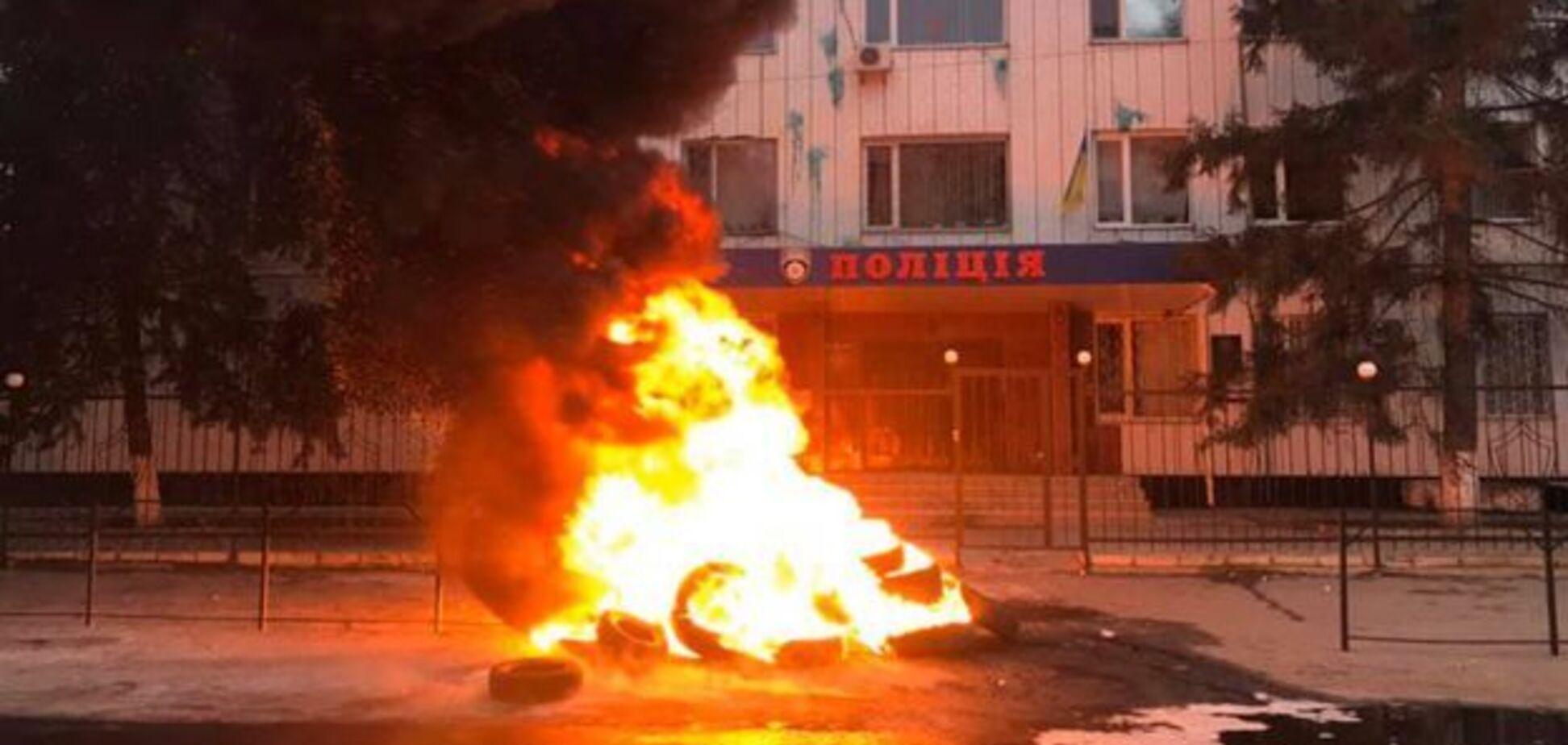 Протест у Каховці