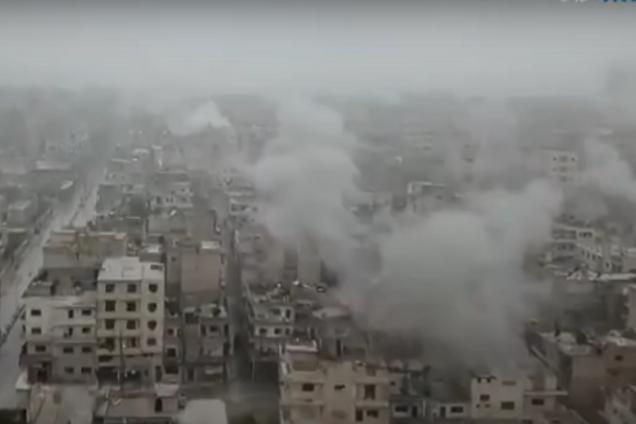 Ударили по жилым домам: видео бомбардировки Сирии авиацией Асада и Путина