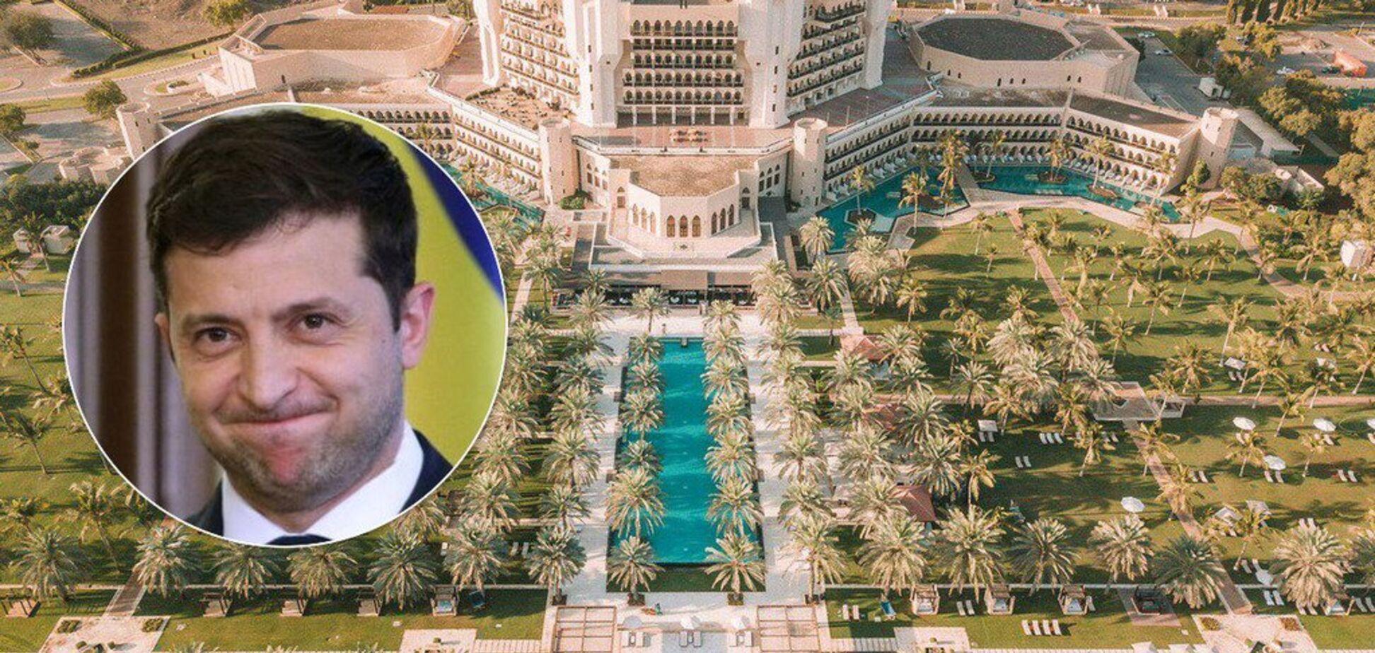 Зеленського засікли на березі Оману в 5-зірковому готелі: він виправдався. Фото відпочинку