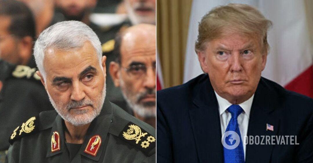 Убитый генерал Касем Сулеймани и президент США Дональд Трамп