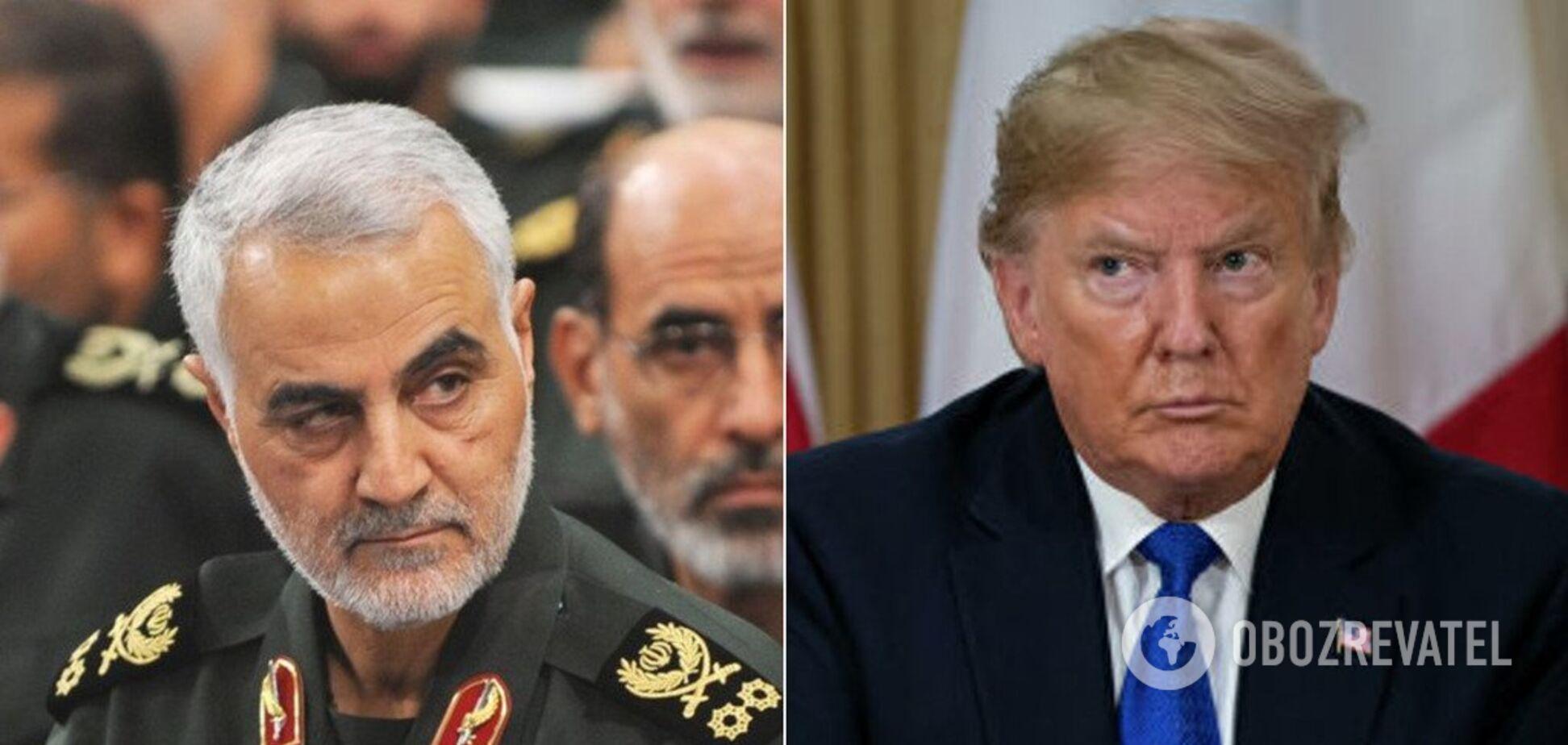 Убитий генерал Касем Сулеймані і президент США Дональд Трамп
