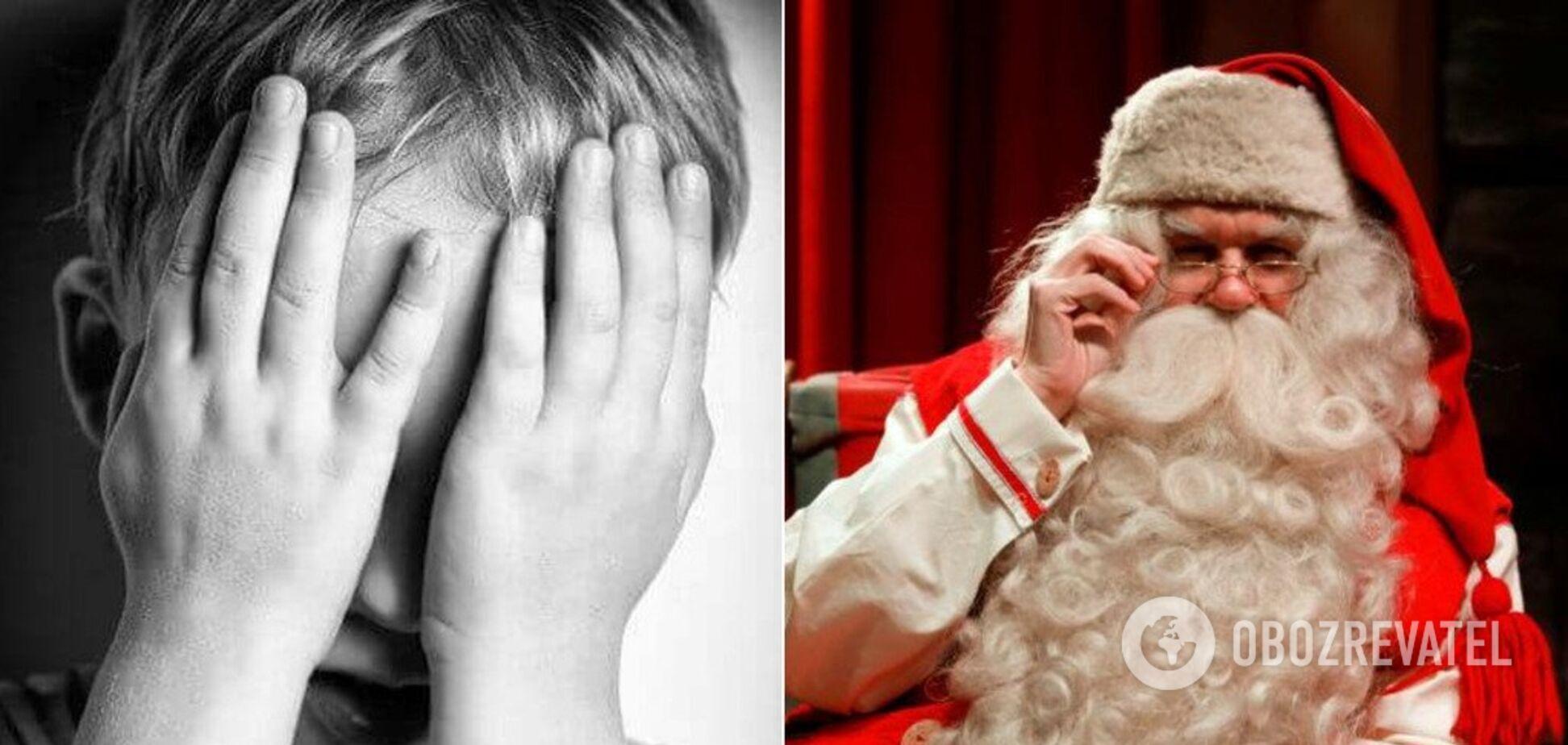 В Крыму Дед Мороз в новогоднюю ночь сжег ребенку лицо. Иллюстрация